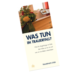 Was tun im Trauerfall Flyer